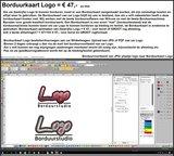 Borduurkaart aanmaken bedrijfs Logo