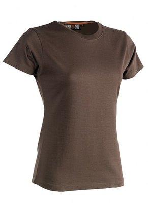 SHEROCK EPONA T-Shirt BRUIN korte mouwen BEDRUKKEN