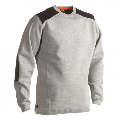 HEROCK ARTEMIS SWEATER GRIJS BORDUREN