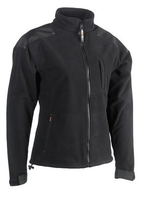 SHEROCK HERA FLEECE JAS ZWART BORDUREN