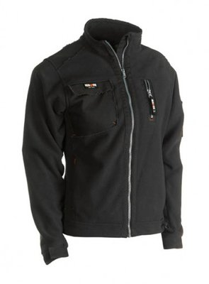 SEROCK INDRA FLEECE VEST ZWART BORDUREN