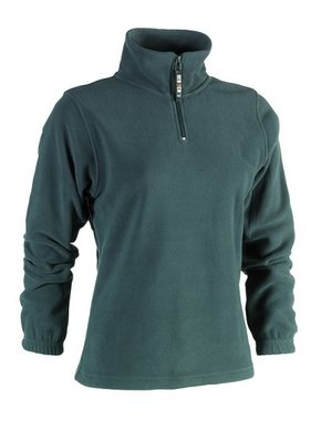 SHEROCK AURORA FLEECE SWEATER GROEN BORDUREN