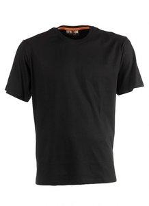 21MTS0901 ARGO T-Shirt ZWART korte mouwen achter BEDRUKKEN