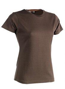 21FTS0901 EPONA T-Shirt BRUIN korte mouwen BEDRUKKEN