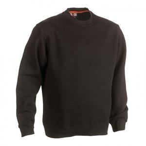 21MSW1401 HEROCK VIDAR Sweater ZWART BEDRUKKEN