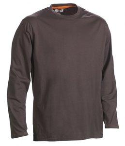 21MTS1201 HEROCK NOET T-SHIRT lange mouwen GRIJS BEDRUKKEN werk shirts online snel leveren