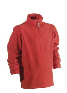 21MSW0902 HEROCK ANTALUS FLEECE SWEATER ROOD BORDUREN met logo