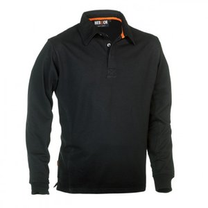 21MPO1501 HEROCK TROJA POLO SWEATER ZWART BORDUREN